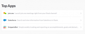 Slack - top apps