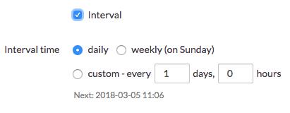 Schedule interval