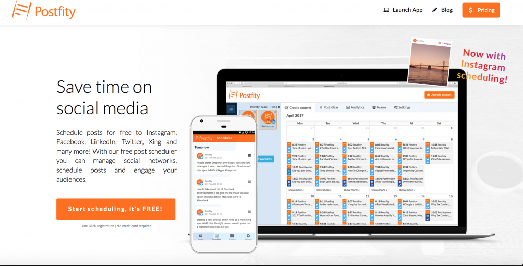 postfity social media scheduler