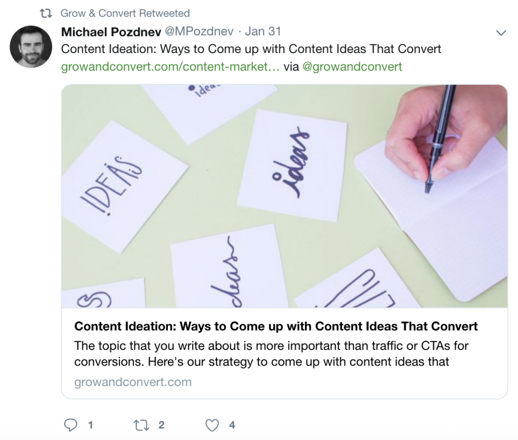 Grow and convert content ideas Postfity