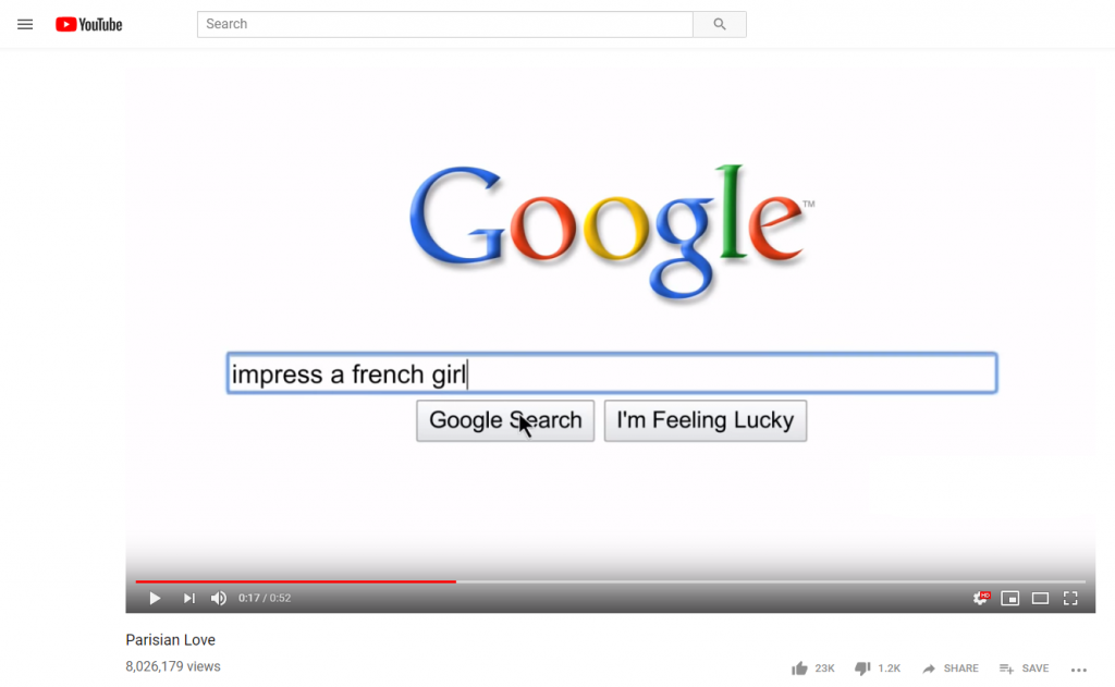 parisian love google ad