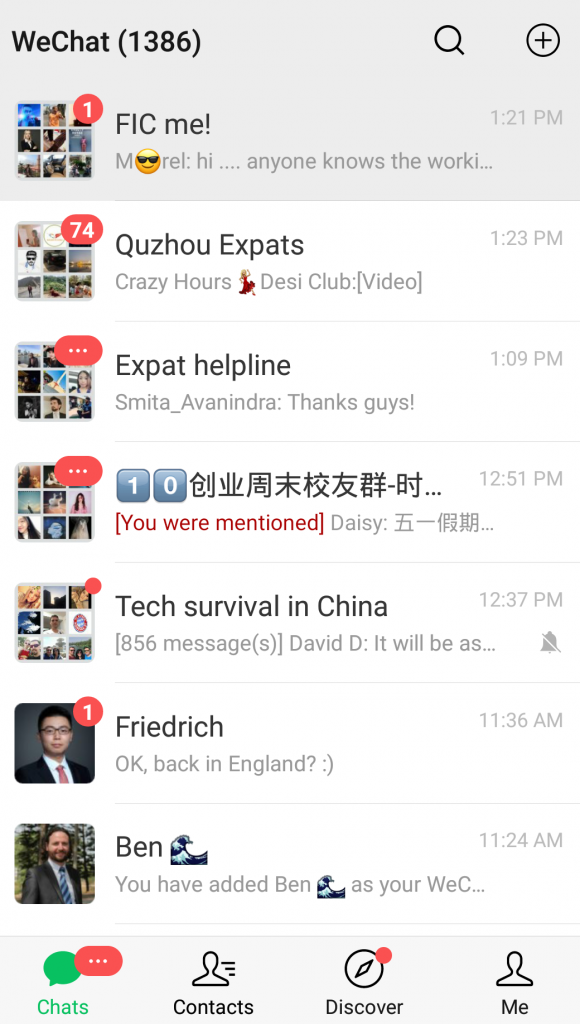 WeChat messaging Chinese Social Media