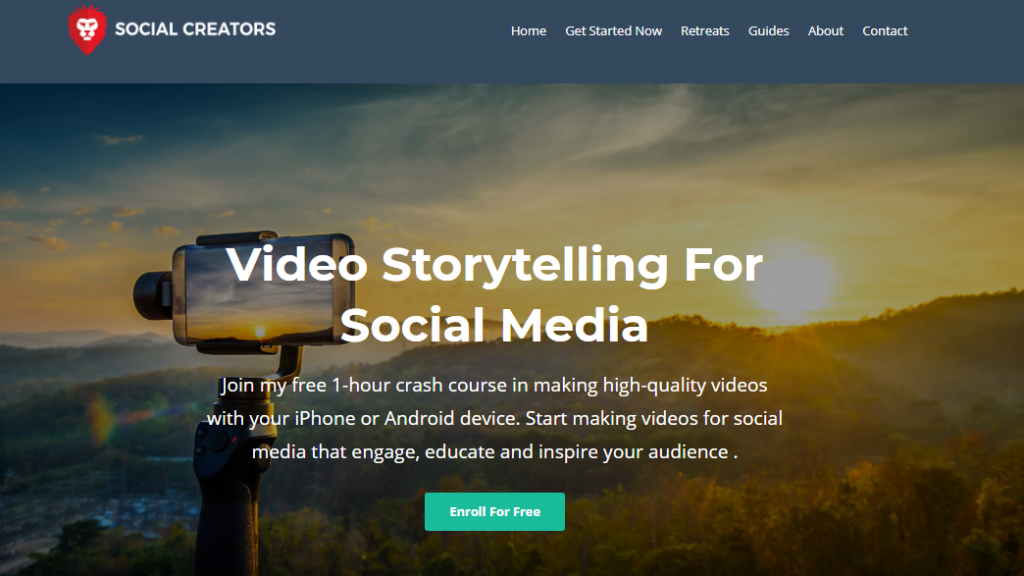 Social Media Marketing Courses Video Storytelling for Social Media