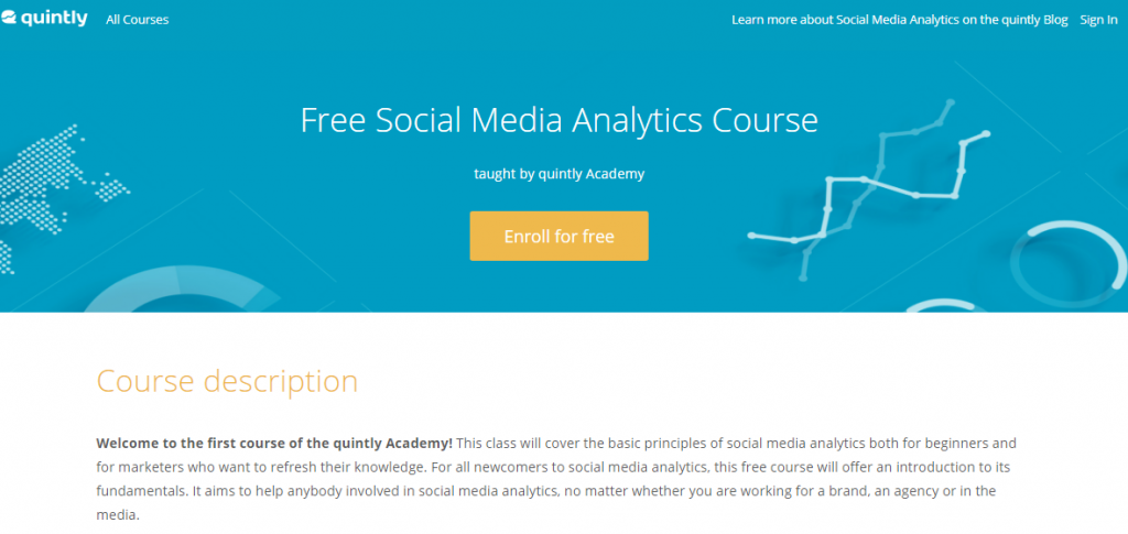 3 - Social media marketing courses Social Media Analytics Course
