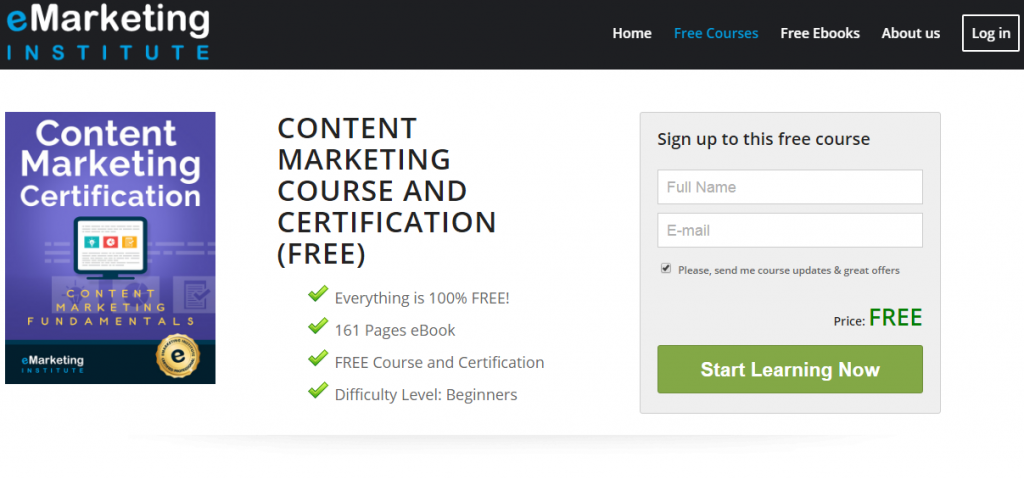 8 - Free Content Marketing Certification Course