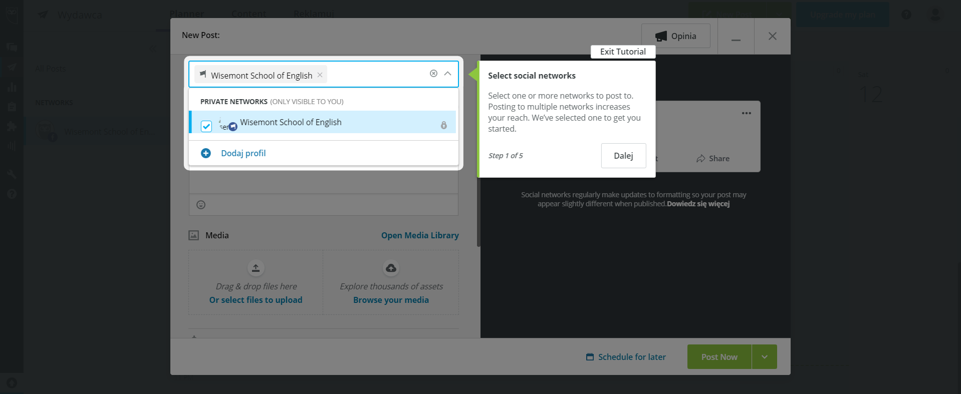 Hootsuite alternatives dashboard