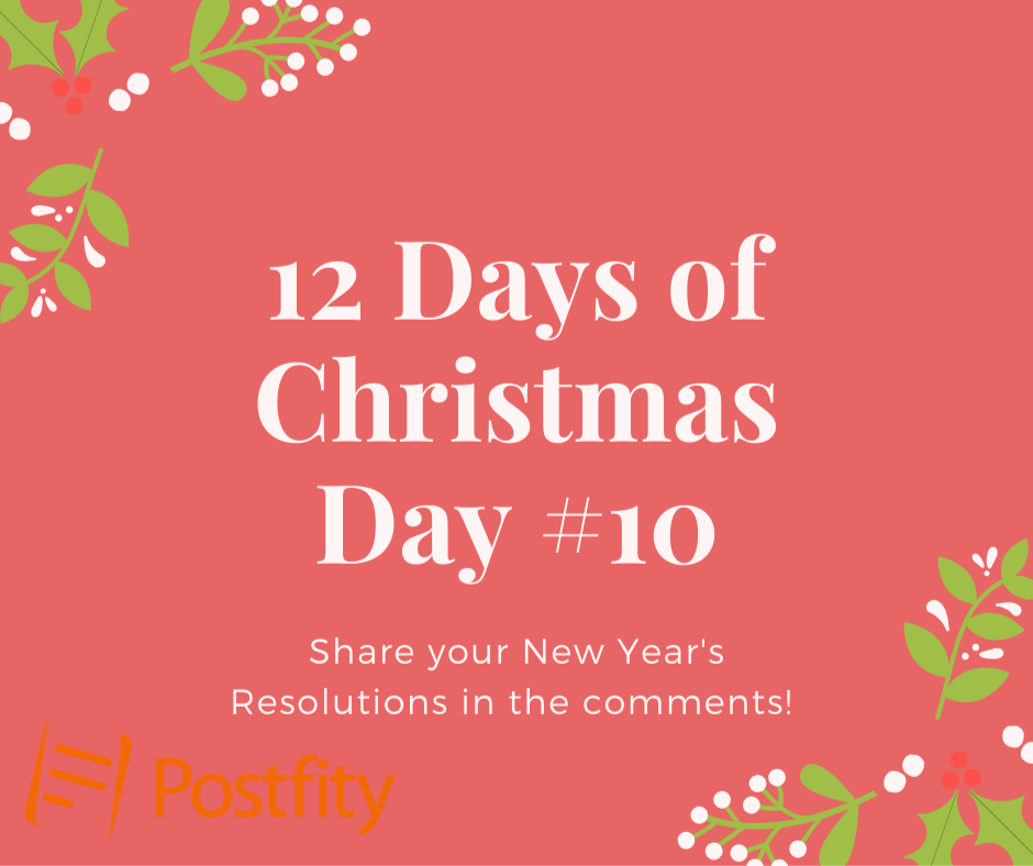 12 Days of Christmas Facebook Post Template