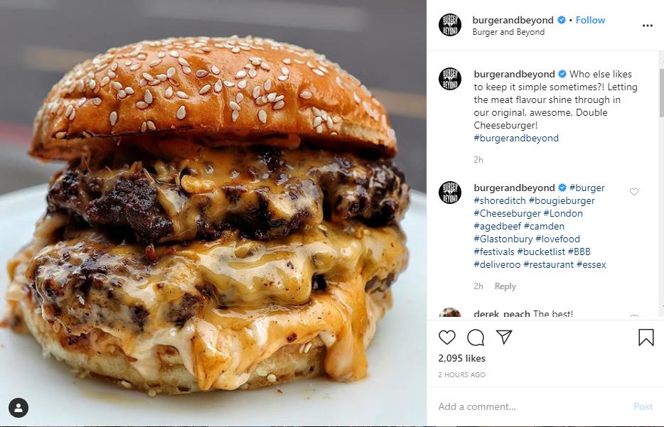 burger food hashtag