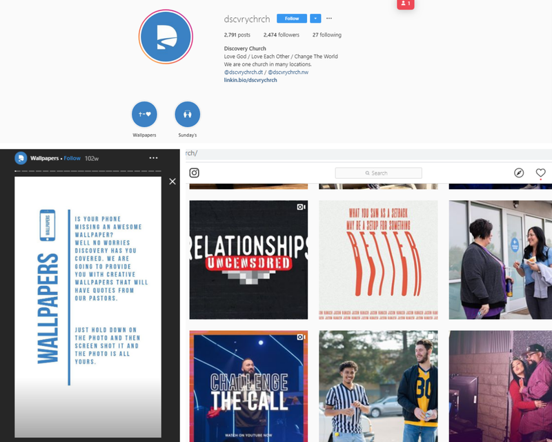 examples of discovery church social media