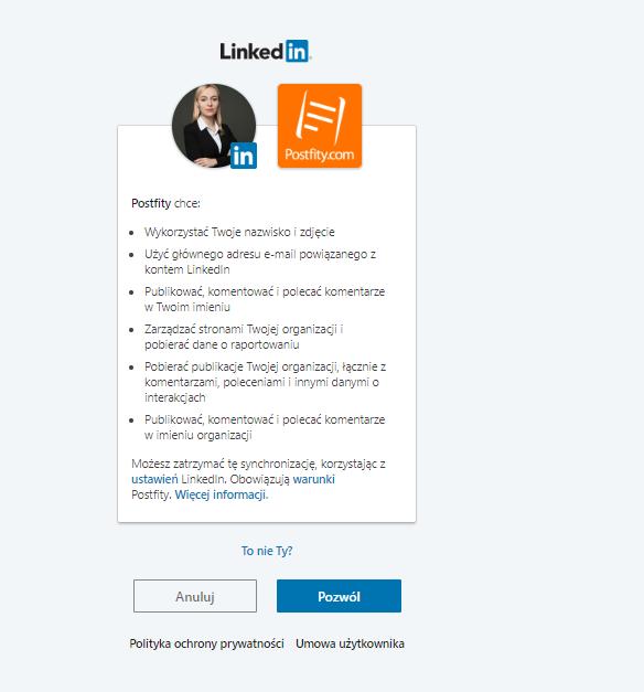 Postfity personal linkedin profile 2