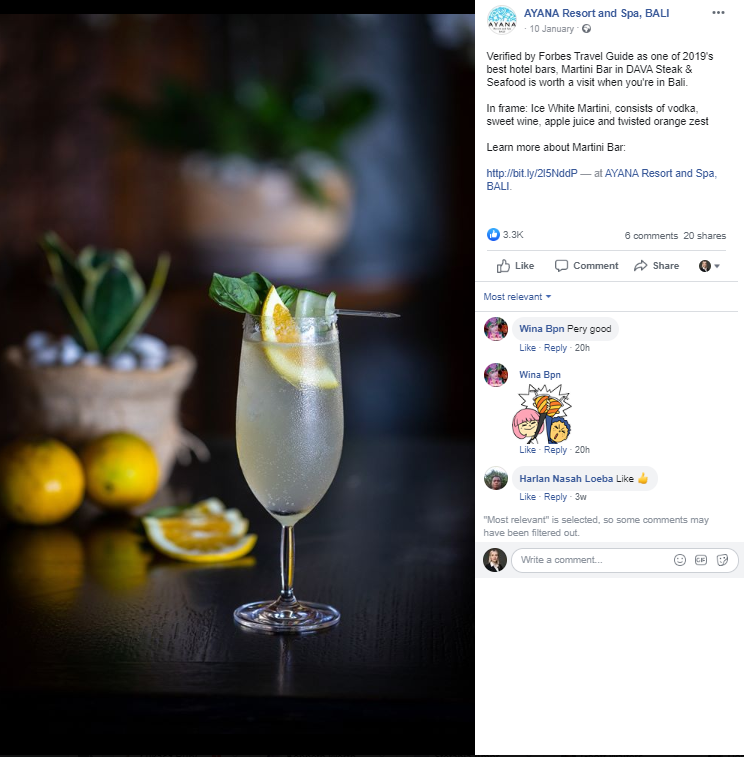 hotel social media marketing ideas drinks