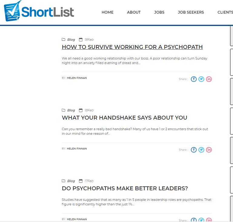shortlist blog