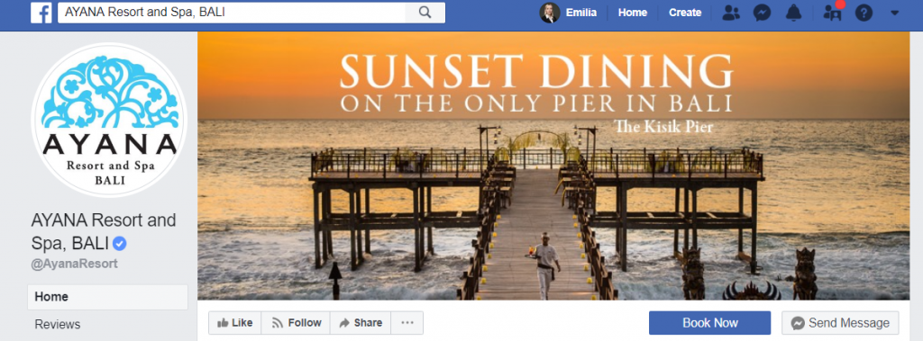 sunset dining hotel social media marketing