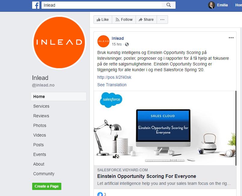 InLead Facebook