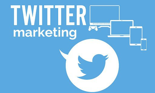 Twitter marketing text with Twitter logo and appliances