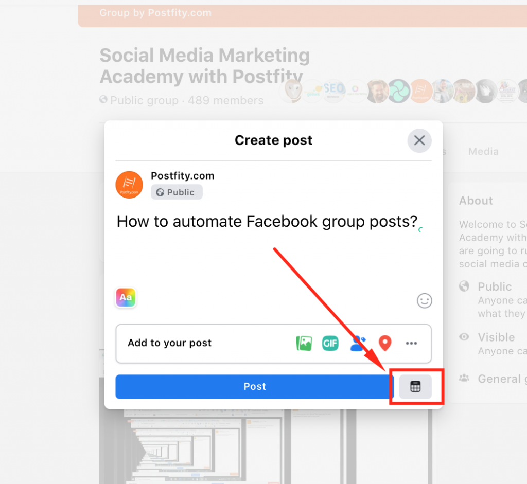 How to automate Facebook group posts